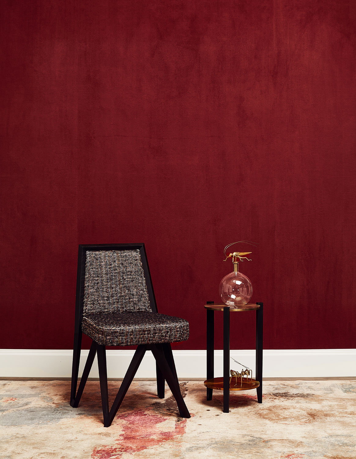 Suede Walls - Lacquer Red